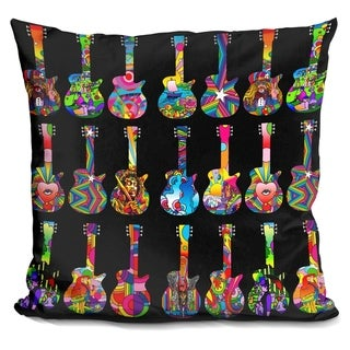 Lilipi Pop Art Guitars Decorative Accent Throw Pillow