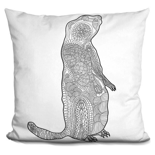 Lilipi Groundhog Decorative Accent Throw Pillow