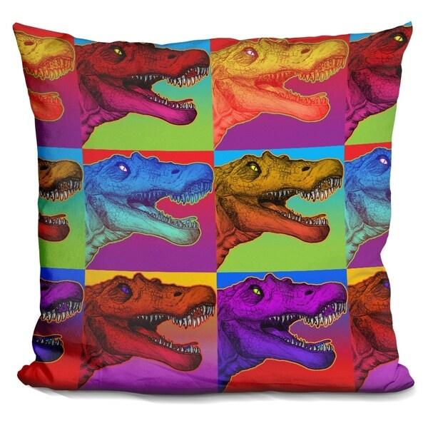 Lilipi Pop Art Dinosaurs 2 Decorative Accent Throw Pillow