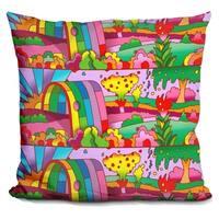 Lilipi Rainbow Tunnel Decorative Accent Throw Pillow