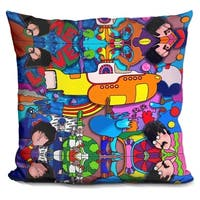 Lilipi Beatles Yellow-Sub Decorative Accent Throw Pillow