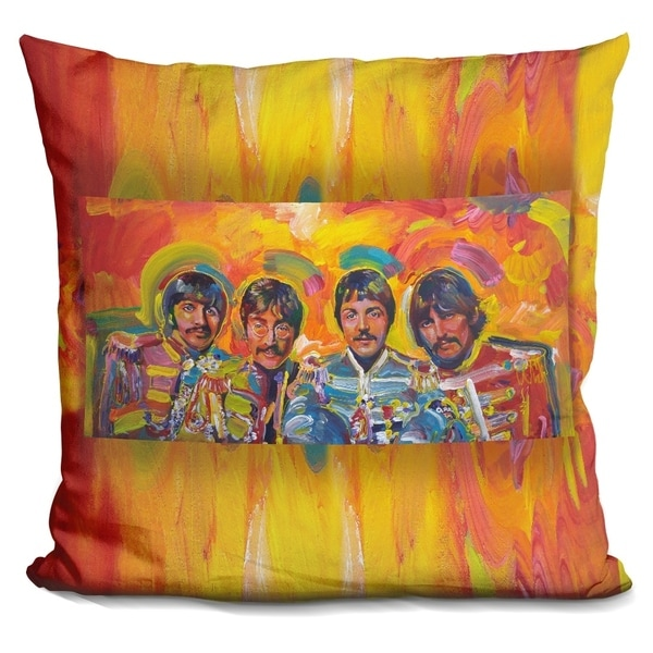Lilipi Beatles Sgt-Peppers Decorative Accent Throw Pillow
