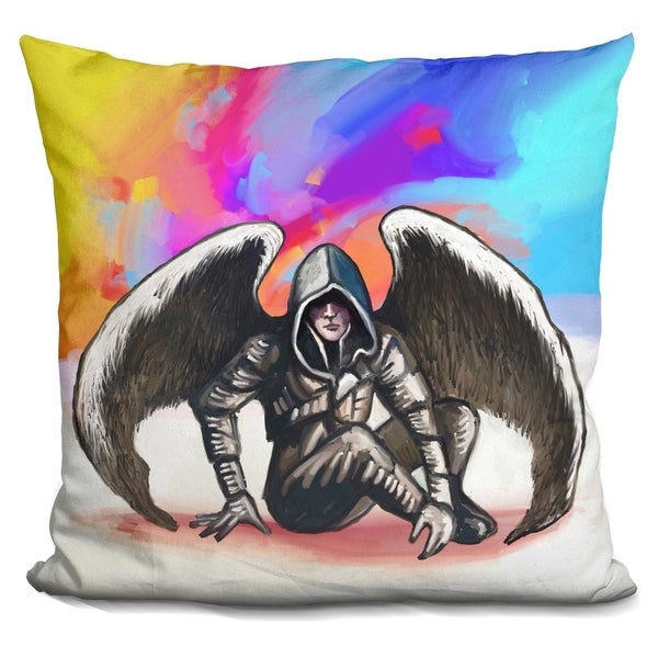 shop lilipi pop art angel warrior decorative accent throw pillow