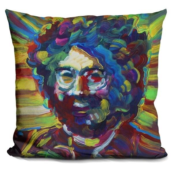 Lilipi Jerry Garcia Decorative Accent Throw Pillow