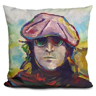 Lilipi John Lennon Hat Decorative Accent Throw Pillow