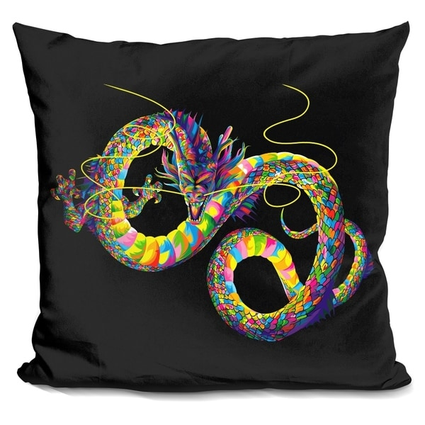 Lilipi Chinese Dragon Decorative Accent Throw Pillow