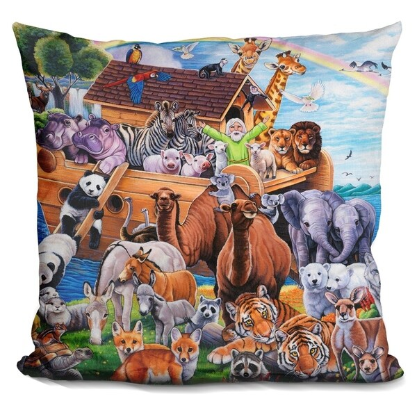 Shop Lilipi Noah S Ark Decorative Accent Throw Pillow On