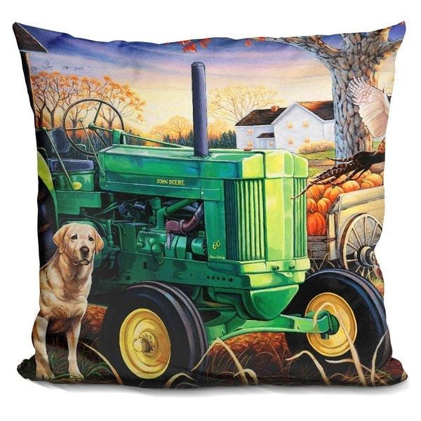 Lilipi John Deer Pups Decorative Accent Throw Pillow
