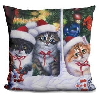 Lilipi Cats In Window Decorative Accent Throw Pillow