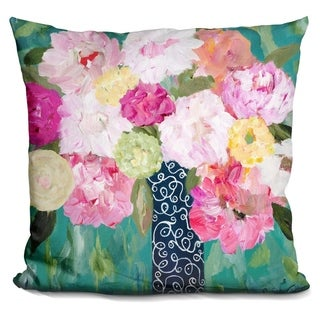 Lilipi Botanical Splash Decorative Accent Throw Pillow