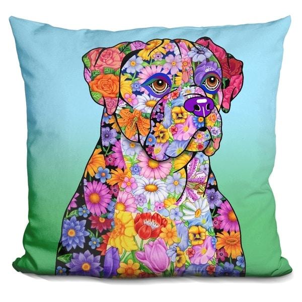 Lilipi Flowers Boxer Decorative Accent Throw Pillow