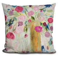 Lilipi Friendship Blooms Decorative Accent Throw Pillow