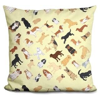 Lilipi Dog Pattern 2 Decorative Accent Throw Pillow