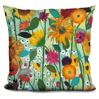 Lilipi Sunflower House Decorative Accent Throw Pillow