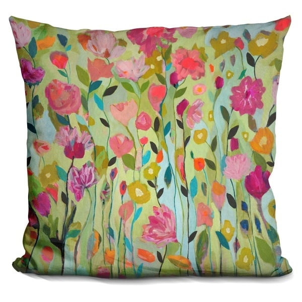Shop Lilipi Floral Botanical Decorative Accent Throw Pillow Impressive Decorative Throw Pillows Canada