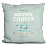 Lilipi Happy Things Decorative Accent Throw Pillow