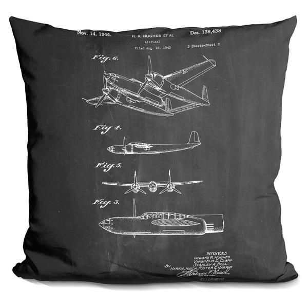 Shop Lilipi Hughes Airplane Decorative Accent Throw Pillow Free Stunning Airplane Decorative Pillow