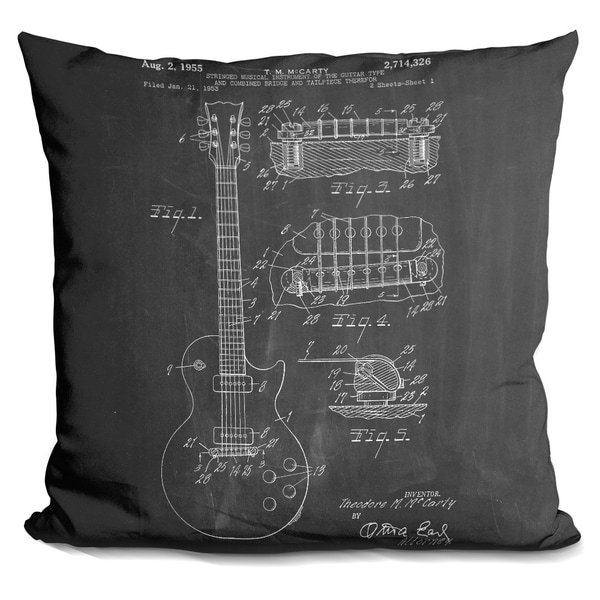 Lilipi Guitar Decorative Accent Throw Pillow