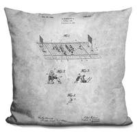 Lilipi American Football Blueprint Decorative Accent Throw Pillow