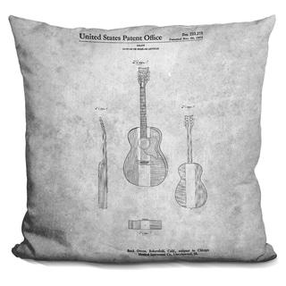 Lilipi Guitar Blueprint Iv Decorative Accent Throw Pillow