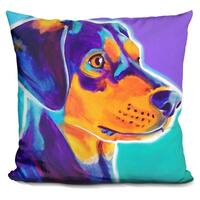 Lilipi Black And Tan Charlie Decorative Accent Throw Pillow