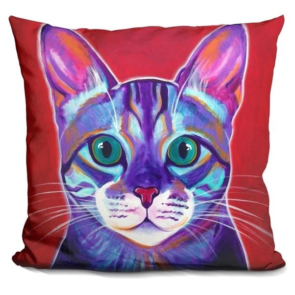 Lilipi Cat - Surprise Decorative Accent Throw Pillow