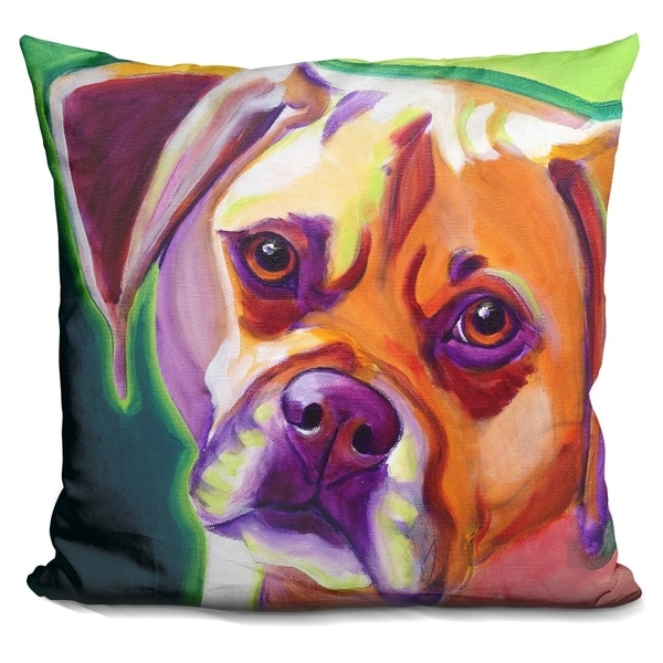Lilipi Puggle - Cooper Decorative Accent Throw Pillow