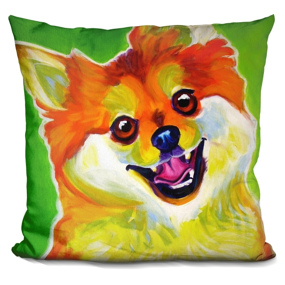 Lilipi Pomeranian Tiger Decorative Accent Throw Pillow, M...