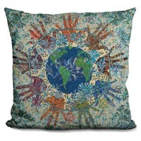 Lilipi Reach Out Decorative Accent Throw Pillow