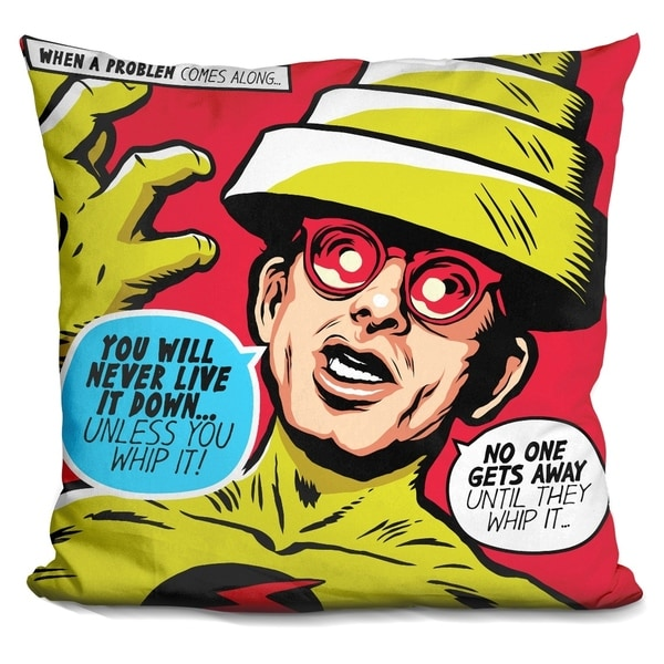 Lilipi Post-Punk Reverse Decorative Accent Throw Pillow