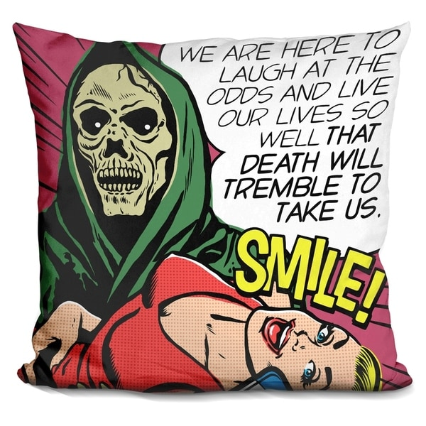 Shop Lilipi Death Will Tremble Decorative Accent Throw Pillow On