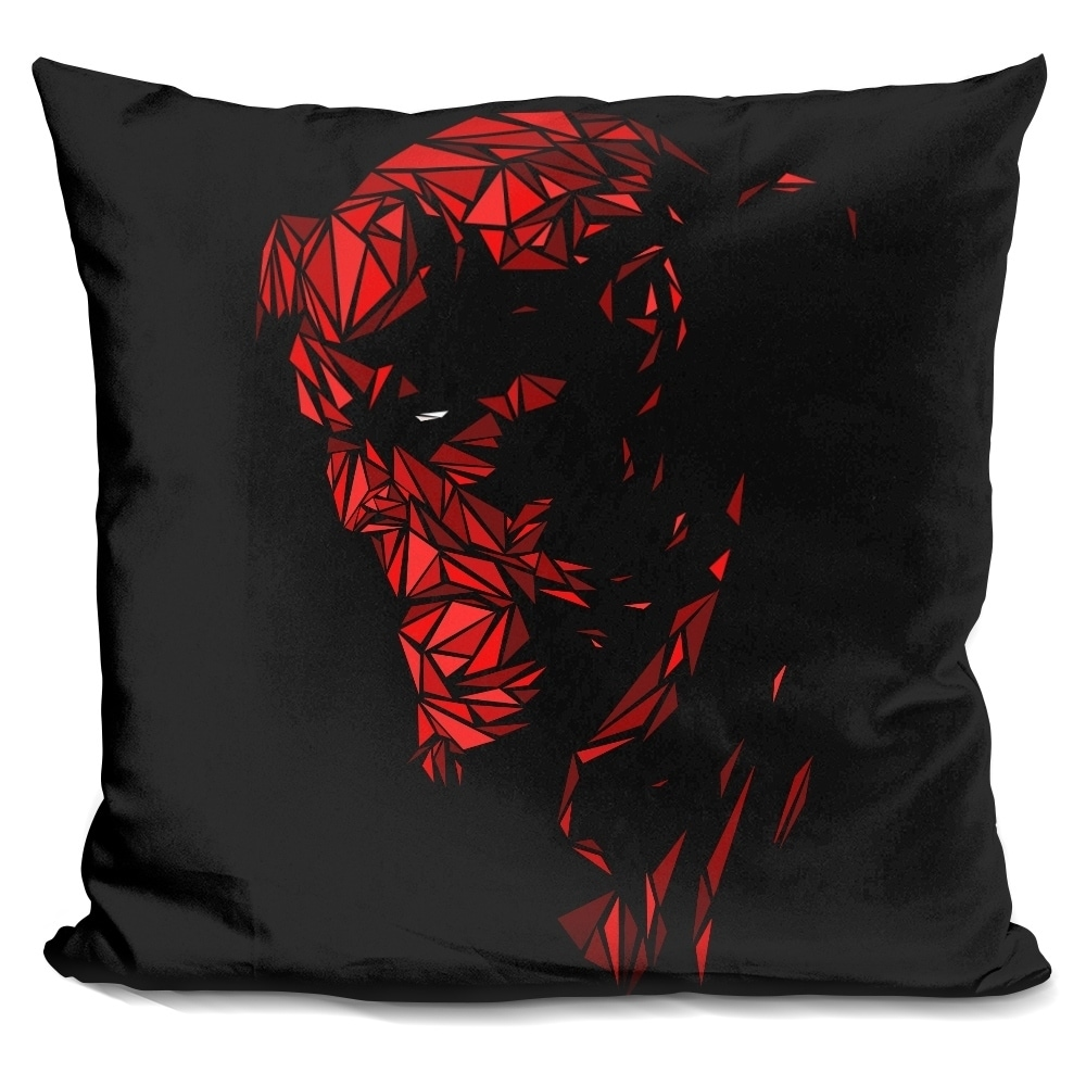 LiLiPi Red Tree Landscape Decorative Accent Throw Pillow