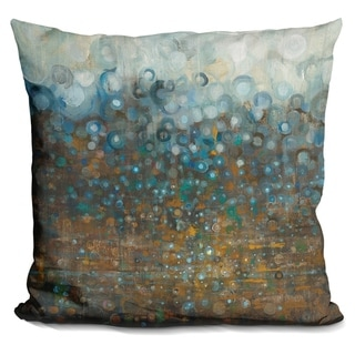 Lilipi Blue And Bronze Dots Decorative Accent Throw Pillow