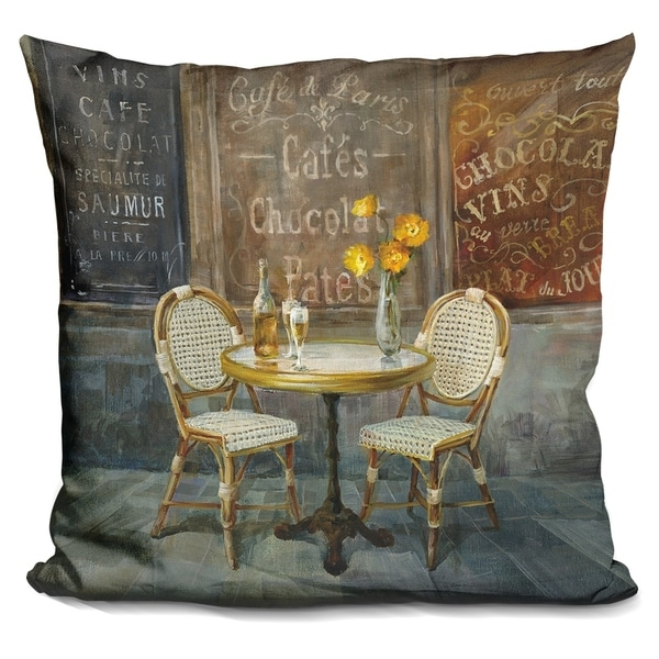 Lilipi French Cafe Decorative Accent Throw Pillow