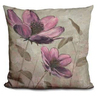 Lilipi Plum Floral Ii Decorative Accent Throw Pillow