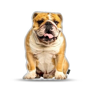 Lilipi English Bulldog Decorative Accent Throw Pillow