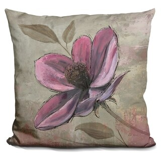 Lilipi Plum Floral Iii Decorative Accent Throw Pillow