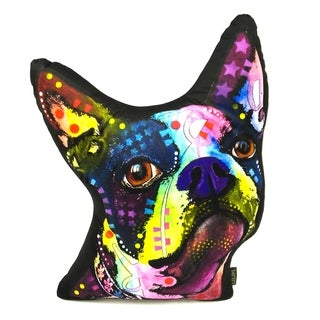 Lilipi Boston Terrier Shaped Decorative Accent Throw Pillow