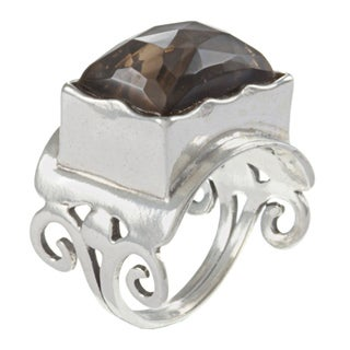 Sterling Silver Smokey Quartz Ring (Israel)