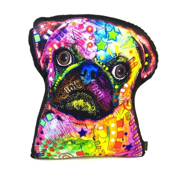 Lilipi Pug Shaped Decorative Accent Throw Pillow