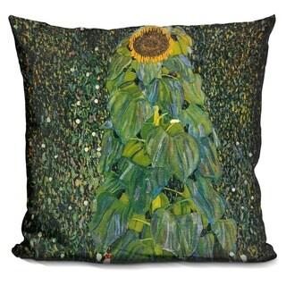 Lilipi The Sunflower 1907 Decorative Accent Throw Pillow