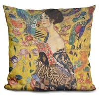 Lilipi Lady With Fan 1918 Decorative Accent Throw Pillow