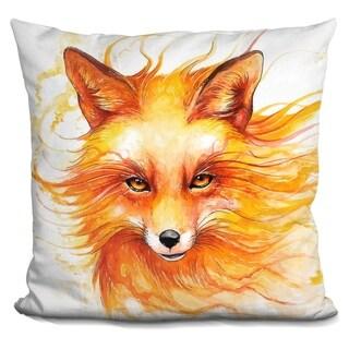 Lilipi Autumn Fox Decorative Accent Throw Pillow