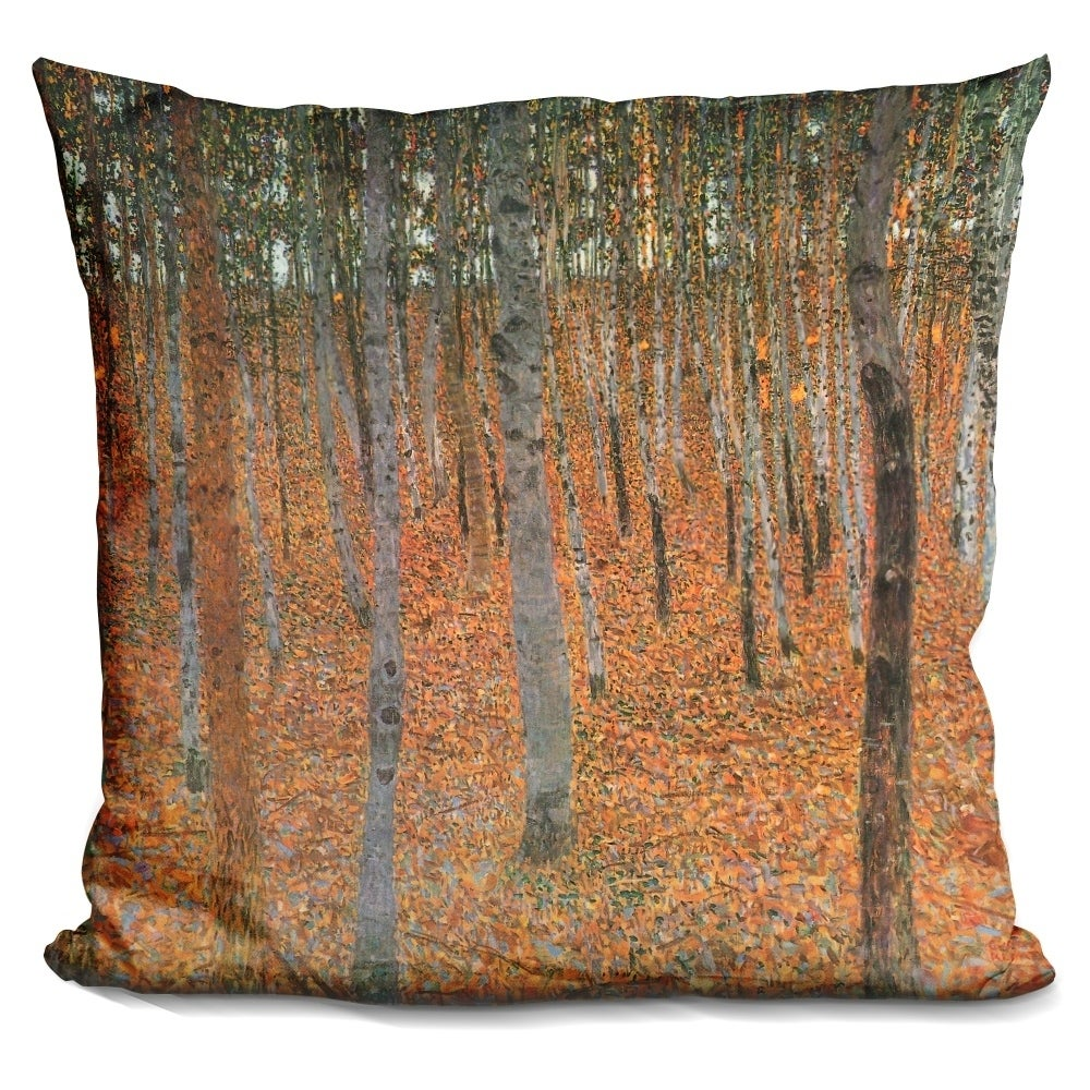 Lilipi Forest Of Beech Trees Decorative Accent Throw Pillow Overstock 18547842