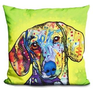 Lilipi Dachshund Decorative Accent Throw Pillow