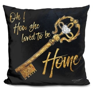 Lilipi Loved To Be Home Decorative Accent Throw Pillow
