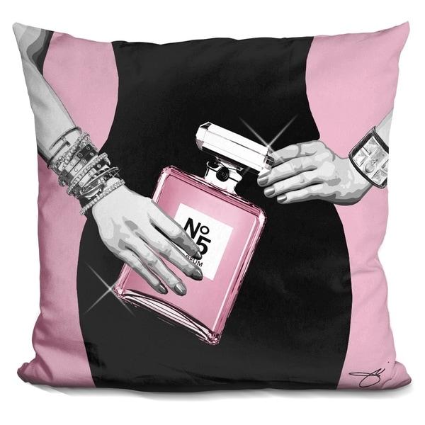 Lilipi Go Pink Decorative Accent Throw Pillow