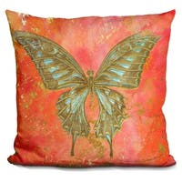 Lilipi Gold Butterfly Decorative Accent Throw Pillow