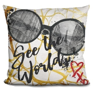 Lilipi See The Worldÿ Decorative Accent Throw Pillow
