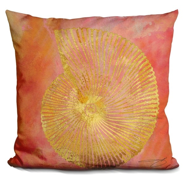 Lilipi Seashell Ii Decorative Accent Throw Pillow